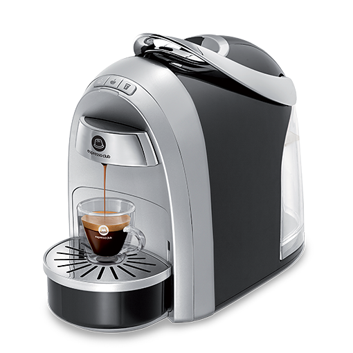 מכונת קפה Mushroom Pro שחור כסוף
